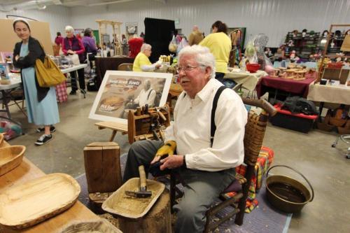 Hand Hewn Bowls at Fiber Arts Festival -Dick Reel