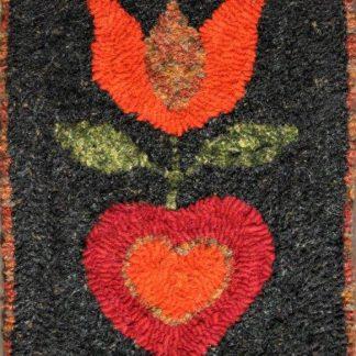 Rug Hooking: Fraktur or Pennsylvania Dutch - Folk Art Pattern (materials kit included in price)